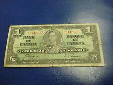 1937 - Bank of Canada $1 note - one dollar bill - BN2416685