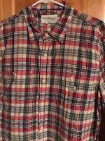 Ralph Lauren Denim & Supply Christmas Plaid Long-Sleeved Shirt - Men's XL - EUC