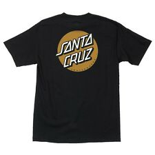 Santa Cruz Other Dot Skateboard T Shirt Black w/Gold Xxl