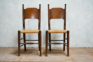Pair of Arts and Crafts Chairs Designed By William Birch