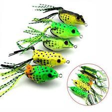 Hot Sale 6pcs 5.5cm Soft Frog Lure Bass Fishing Hooks Bait Tackle Topwater Set