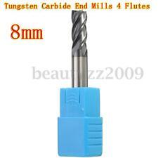 8MM Tungsten Carbide End Mill 4 Flute HRC50 60MM Length Flat Bottom 8MM Shank
