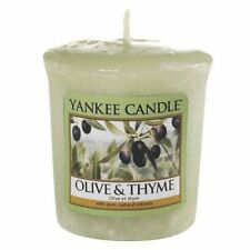 Yankee Candle Olive and Thyme Votive Candle Green Sampler candle 45g x 3 NEW