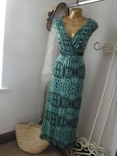 *PER UNA* Size 14r Blue and Green Long Dress with wrap style top.VGC*