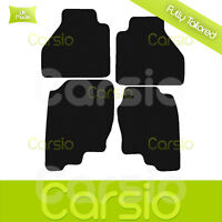 Black Fully Tailored Rubber Car Floor Mats For Nissan Navarra 2005 to 2015