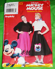 Simplicity 9431 Misses Mickey Mouse Poodle Skirt Uncut Sizes 8-18 Dapper Days