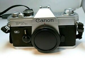Canon FTb QL 35mm SLR Film Camera Body Only - (problem with light meter)