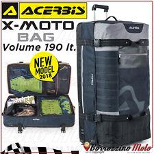 BORSA BORSONE VALIGIA TROLLEY ACERBIS X-MOTO BAG GRIGIO VOLUME 190 LT MOTO CROSS