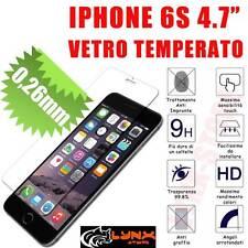 """PELLICOLA IN VETRO TEMPERATO PER IPHONE 6S 4.7"""" ANTIURTO OLEOFOBICA ULTRACLEAR"""