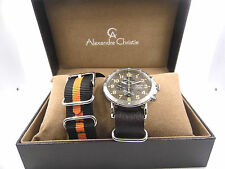 ALEXANDRE CHRISTIE 6369MCLSSBAIV DUAL STRAP MILITARY STYLE GENTS WATCH