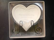 Happiness: porcelain heart with stand Angelica Seasons of Cannon Falls