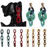 Fashion Women Statement Geometric Acrylic Long Chain Drop Dangle Earring Jewelry