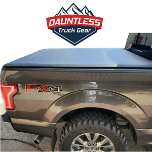 New DAUNTLESS Soft Roll Up Tonneau Bed Cover Fits 2015-2021 Ford F150 5.5ft Bed