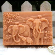Elephant Family Silicone Soap Molds Craft Mold Handmade DIY Soap Making Mold