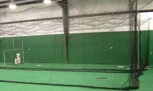 Backyard Baseball Batting Cage Net Netting #21 (27 Ply) 12' x 12' x 55'