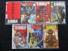 Django Unchained #1-7 DC Vertigo full run Quentin Tarantino 1st draft script