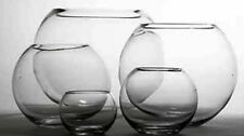 "12 X 4"" OASIS GLASS FISH BUBBLE BOWL WEDDING TABLE CENTREPIECE CLEAR VASE -41232"