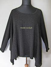JEAN MARC PHILIPPE kastiges weites Oversize Shirt Überwurf schwarz T6 48-50