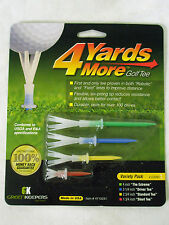 4 Yards More Golf Tees by Greenkeepers - Variety Size Pack of 4