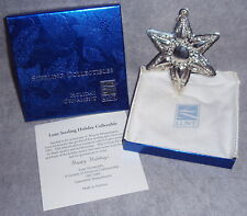 2002 Lunt Sterling Silver 9th Annual Star Christmas Ornament Pendant Medallion