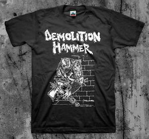 DEMOLITION HAMMER 'Brutal Skull Attack' T shirt (Kreator Slayer Venom Thrash)