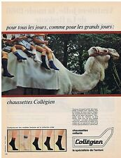 PUBLICITE ADVERTISING 044 1966 COLLEGIEN chaussettes collants