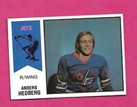 RARE 1974-75 OPC WHA # 17 JETS ANDERS HEDBERG ROOKIE EX-MT CARD  (INV# D2270)