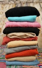 Lot of 11 100% Cashmere Sweaters Cutter Craft Upcycle Non Felted Fabric 5 + lbs