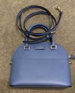 NEW Genuine Kate Spade New York Mid Blue Leather Small/ Medium Crossbody Bag