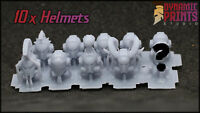 10x Custom Mixed Different Helmets Compatible w/ 40k Deathwatch space marine