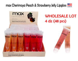 max Cherimoya Sheer Tinted Pink Jelly Lipgloss - WHOLESALE LOT 4 DZ (48 PCs)