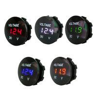 LED Display Panel Digital Motorcycle Battery Gauge Car Voltmeter Voltage Meter
