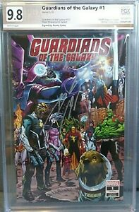 Guardians Of The Galaxy #1 PGX 9.8 Signed Cates Variant
