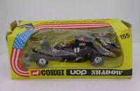 Vintage Corgi DieCast #155 UOP Shadow F1 Racing Car 1973 Mettoy Boxed