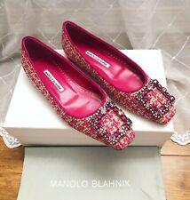 Manolo Blahnik Pink Tweed Crystal