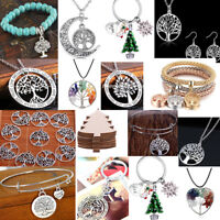 925 Silver Tree of Life Necklace Pendant Earrings Charm Set Jewellry Wedding New