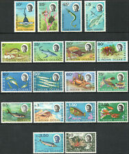 British Indian Ocean Territory 1968 QEII set of mint stamps value to 10Rs MNH