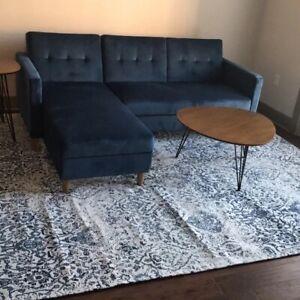"84"" Reversible Sleeper Sofa & Chaise"