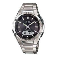 Casio WVAM640TD-1AER WaveCeptor Radio Controlled Watch - Titanium with Grey Dial