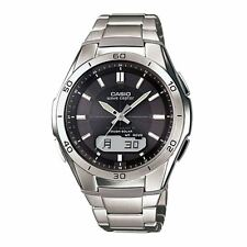 Casio WVAM640TD-1AER WaveCeptor Radio Controlled Watch - Titanium with Grey Dial