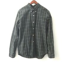 Abercrombie and Fitch Muscle Fit Green Plaid Button Down Shirt Men's Size Medium