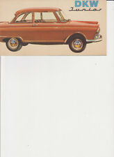DKW Junior brochure 1960 RARE English language MINT
