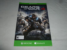XBOX ONE EXCLUSIVE GEARS OF WAR 4 VIDEO GAME PROMO CARDBOARD POSTER WINDOWS 10 >