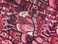 "Multicolor Silk Chiffon Fabric 45"" Width Sold By The Yard"