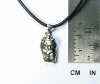 Meteorit Campo del Cielo / 925 Sterlingsilber / Anhänger mit  Lederband / neu