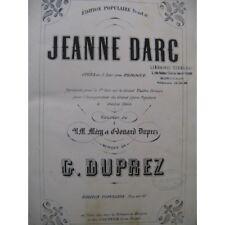 DUPREZ Gilbert-Louis Jeanne d'Arc Opéra Chant Piano 1865 partition sheet music s