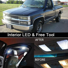 14x White LED light Interior Package For 95-98 Chevy Silverado / GMC Sierra+Tool