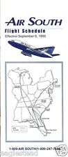Airline Timetable - Air South - 06/09/95 (US)