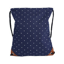 Travel Canvas Bags Backpack Gym Drawstring Bag Solid Color Dots Print Pouches