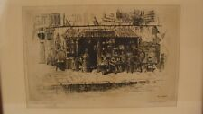 Antique Harry C Lewis The Little Antique Shop Etching